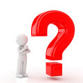 Question mark person to think and of red Royalty Free Stock Images
