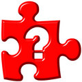 Question mark puzzle piece Stock Photos