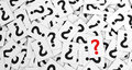 Question Mark On Scattered Papers Royalty Free Stock Photo