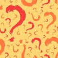 Question mark seamless pattern background Stock Photo