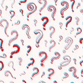 Question mark Seamless pattern.. Doodle style. Collection of icons and signs Why. Engraved hand drawn sketch. Abstract Royalty Free Stock Photo