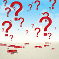 Question mark sky Royalty Free Stock Photo