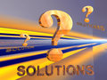 Question Mark with solution. Stock Images