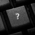 Question sign on keyboard button Stock Images