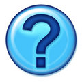 Question Web Button Royalty Free Stock Photo