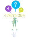 Questioning starts at the beginning Royalty Free Stock Photography
