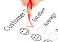 Questionnaire checkbox on customer service satisf Royalty Free Stock Photo