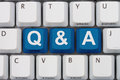 Questions and answers available computer keyboard keys with word q a Royalty Free Stock Photos