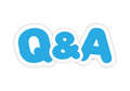 Questions and answers labels blue Royalty Free Stock Image