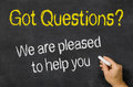 Questions we are pleased to help you Royalty Free Stock Photo