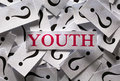 Questions about the youth too many question marks Royalty Free Stock Images