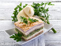 Quiche with ham cheese Royalty Free Stock Image