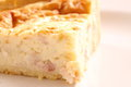 Quiche lorraine b photograph of a portion of on a plate Stock Photography