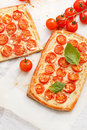 Quiche with tomato Royalty Free Stock Photography
