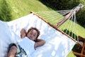 Quick nap on the hammock Royalty Free Stock Photo