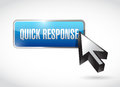 Quick response button illustration design over a white background Stock Photos