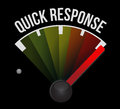 Quick response speedometer illustration design over a white background Stock Photo