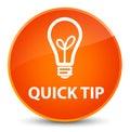 Quick tip (bulb icon) elegant orange round button