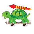 Quick turtle vector illustration of business start up concept Royalty Free Stock Images