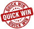 quick win red stamp Royalty Free Stock Photo