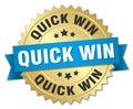 quick win badge Royalty Free Stock Photo