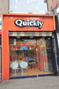 Quickly restaurant in seoul located south korea is a famous fast food south korea Royalty Free Stock Image