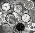 Quickly time clocks mark the that passes Royalty Free Stock Images