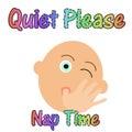Quiet baby sleeping Royalty Free Stock Photo