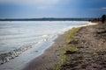 Quiet Black Sea coast and the sandy beach Royalty Free Stock Photo