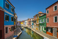 Quiet burano a street on island Royalty Free Stock Images