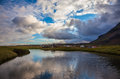 Quiet coast of Iceland