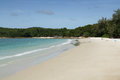 Quiet day at the Hat Sai Kaew Beach at Koh Samet in Thailand Royalty Free Stock Photo