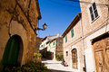 Quiet lane in Valldemossa, Majorca Royalty Free Stock Images