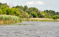 Quiet Ros river at summer Royalty Free Stock Photo