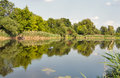Quiet Ros river in summer, Ukraine Royalty Free Stock Photo