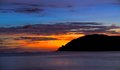 Quiet sea island and when sunset at langkawi malaysia Royalty Free Stock Image