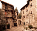 Quiet street in Italian town Royalty Free Stock Photo