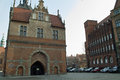 Quiet street life gdansk poland february old town long crowds of tourists visit the lovely places in gdansk poland Royalty Free Stock Photos