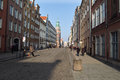 Quiet street life gdansk poland february old town long crowds of tourists visit the lovely places in gdansk poland Royalty Free Stock Image