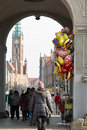 Quiet street life gdansk poland february old town long crowds of tourists visit the lovely places in gdansk poland Stock Photo