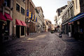 Quiet street in Old Montreal Royalty Free Stock Photo