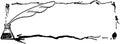Quill pen ink frame Lizenzfreies Stockbild