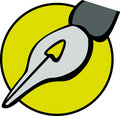 Quill pen nib vector illustration Stock Photography