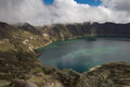 Quilotoa Crater Lake Stock Image