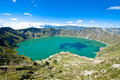 Quilotoa lake Royalty Free Stock Photo