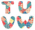 Quilt alphabet. Royalty Free Stock Photo