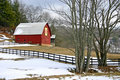 Quilt Barn in Winter Stock Image