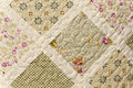Quilt detail close up photograph Royalty Free Stock Photo