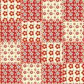 Quilt seamless pattern 1 Stock Photo