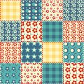 Quilt seamless pattern 3 Stock Image